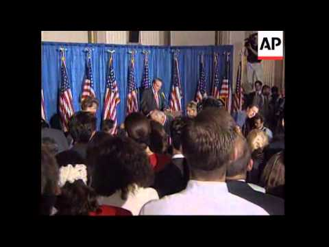 USA: BOB DOLE RECEIVES ROUSING SEND OFF FROM REPUBLICAN MEMBERS