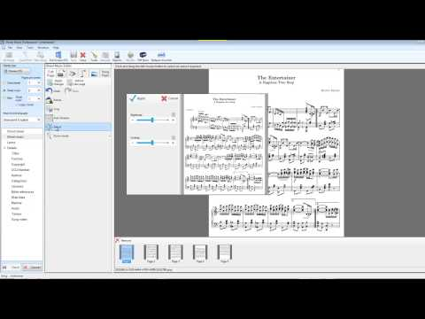 Sheet Music Page Editor in Power Music Professional
