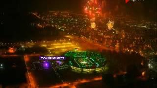 شاهد.. الألعاب النارية تضئ سماء ملعب السلام في افتتاحية البطولة العربية