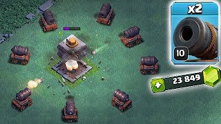ALL CANNON TROLL!!! | GEM TO MAX CANNONS!! | Clash Of Clans