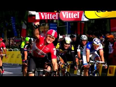 André Greipel's sprint, Stage 21 of the Tour de France 2015 ([Full HD])