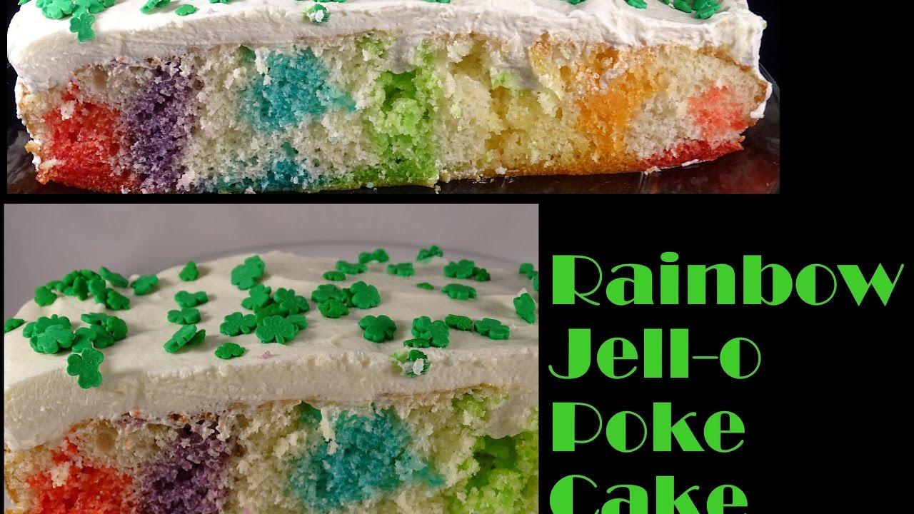 how to make a rainbow jello cake