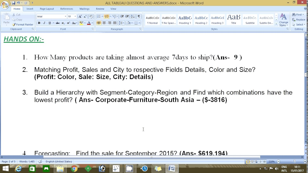 Tableau Qualified Associate Exam Questions and answers in practical way  Part 1