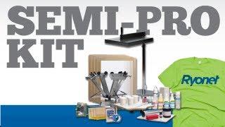 Semi-Pro 4 Color Silk Screen Printing Kit