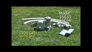 Pompe de filtration 635T636T, 1500GalHr(5678LHr) INTEX.