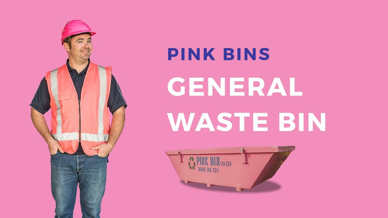 Pink Bins Pink Bins General Waste Bin