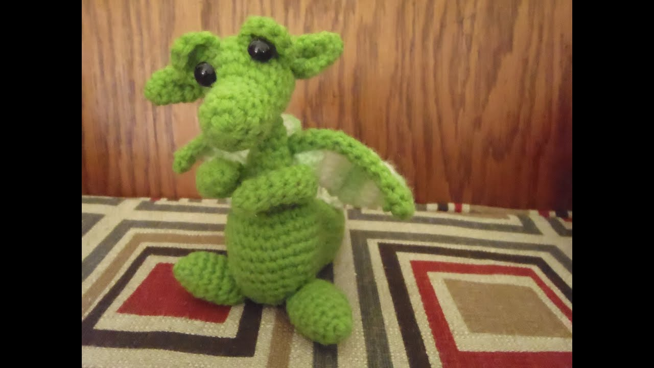 Crochet Baby Snow Dragon for