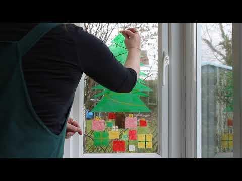 Peelable Glass Paint peeling off Christmas Tree