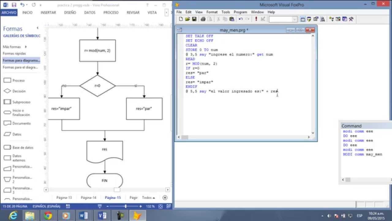 Diagrama De Flujo Y Codigo En Visual Fox Pro  Ejer15