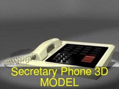 3D Model of Secretary Phone Review