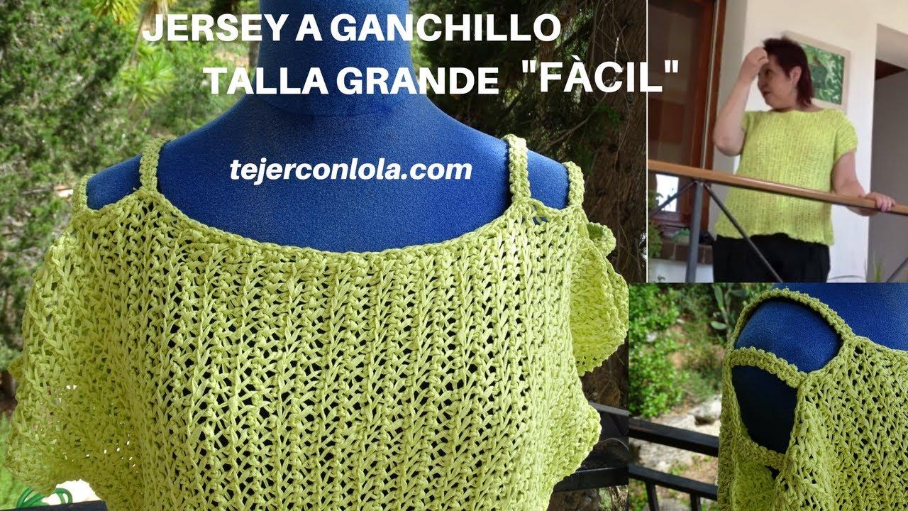 JERSEY A GANCHILLO TALLA GRANDE \