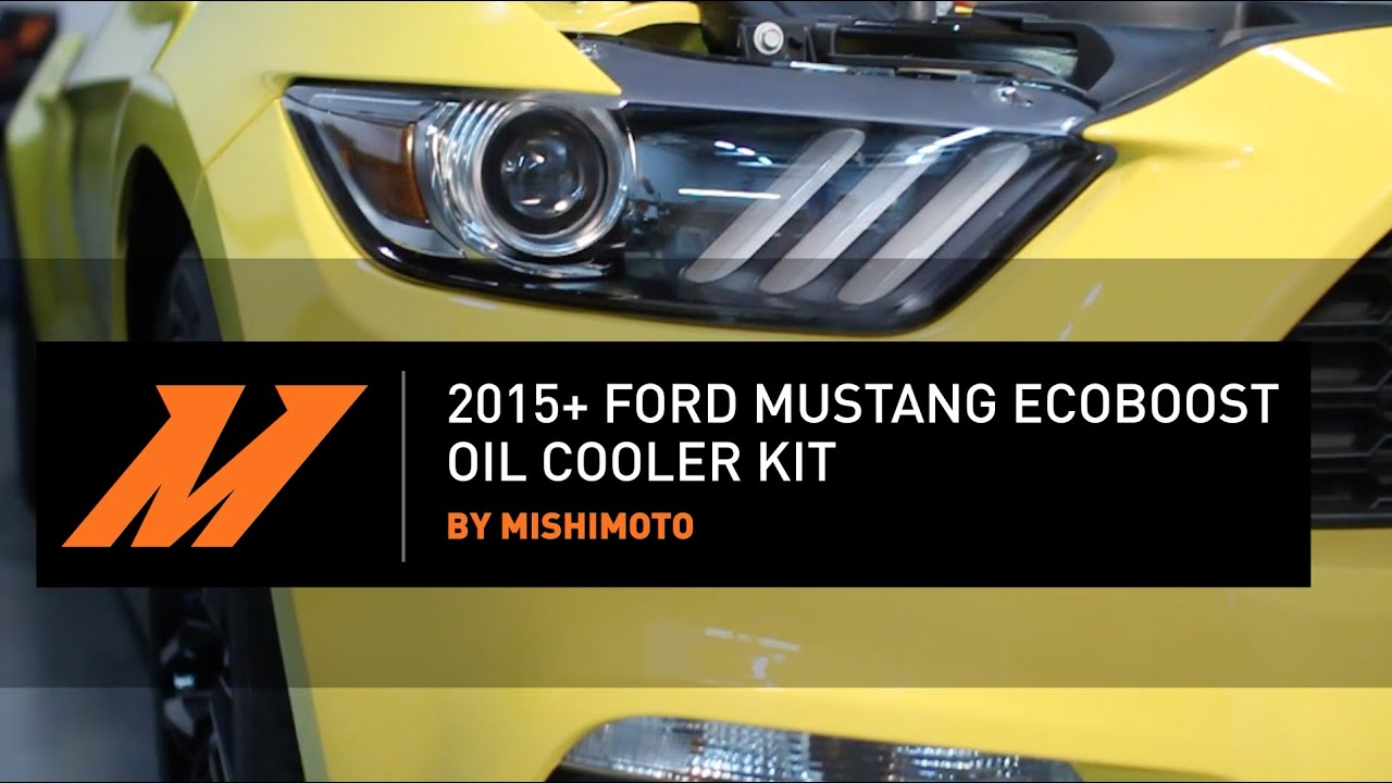 2015 mustang ecoboost direct fit oil cooler installation video by mishimoto