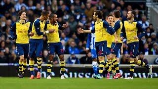 брайтон 2:3 Арсенал Обзор матча 1/6 Финала Кубка Англии 2015
