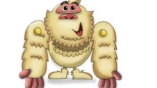 How to draw Mr. Yeti from Candy Crush