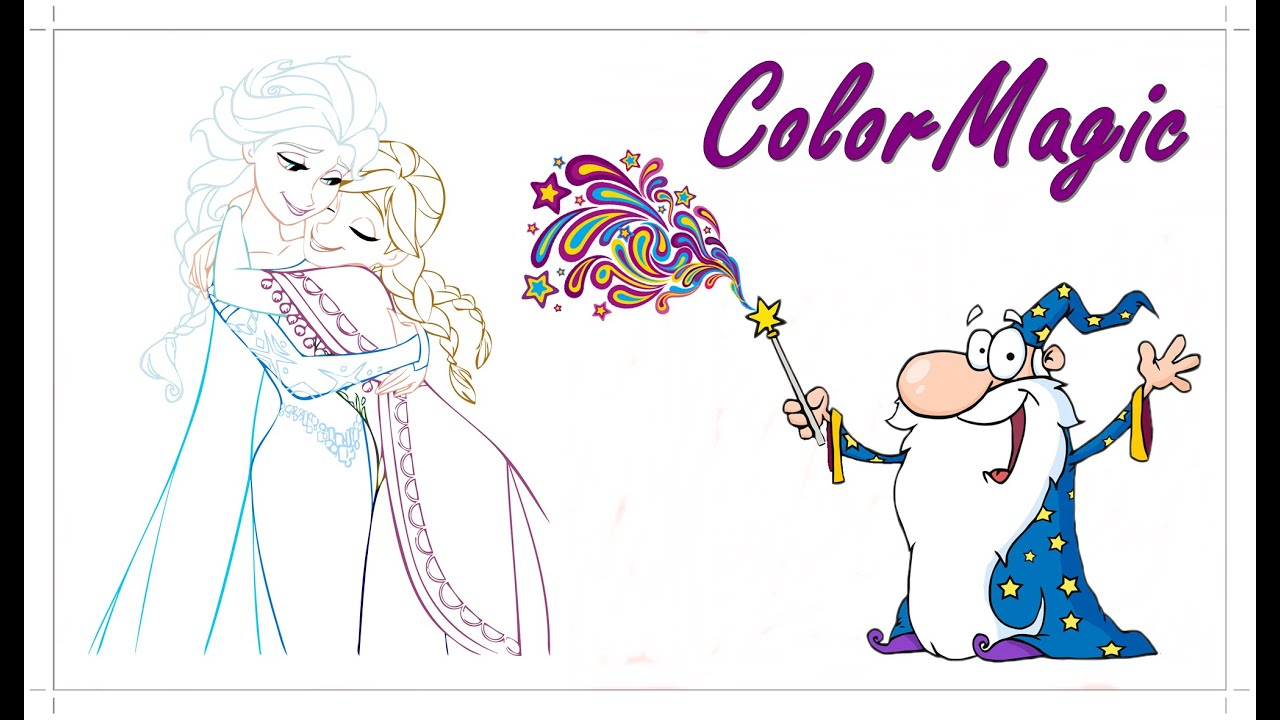 fun elsa and anna frozen coloring book picture lets color in with wizzlestix youtube - Elsa Coloring Book