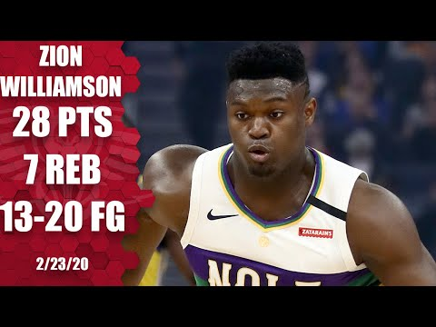 Zion Williamson shows off his full skill set vs. the Warriors | 2019-20 NBA Highlights