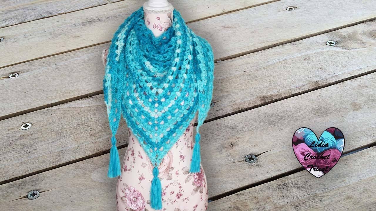 Châle Chignons Crochet Très Facile Lidia Crochet Tricot Youtube