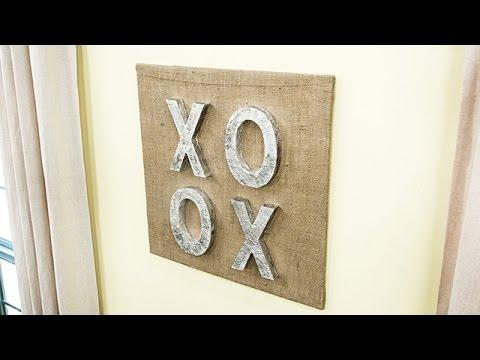 How To - DIY XOXO Wall Art - Hallmark Channel