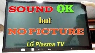 Sound OK, but No Picture LG Plasma TV (50PT250, 350) Tagalog