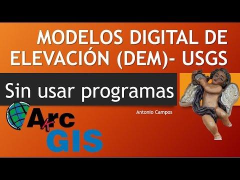 Como obtener DEM de la pagina USGS sin programas - Arcgis online
