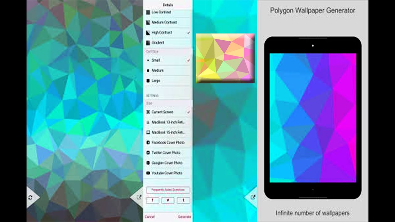 polygen wallpaper generator android application