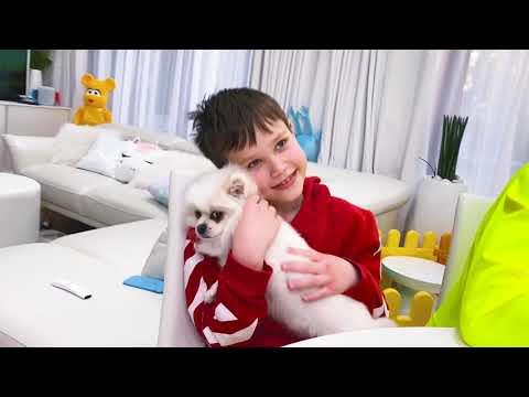 Макс и Катя играют с папой в лотерею