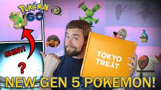 NEW SHINY DEX ENTRY! NEW GEN 5 POKEMON CAUGHT! TOKYO TREAT JAPANESE CANDY! (Pokemon GO 2020 Event)