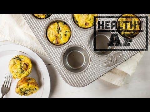 Mini Spinach Artichoke Frittatas | Healthy AF