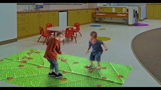 Ladybug Leaf - interactive floor or wall projector game from Lumo Play