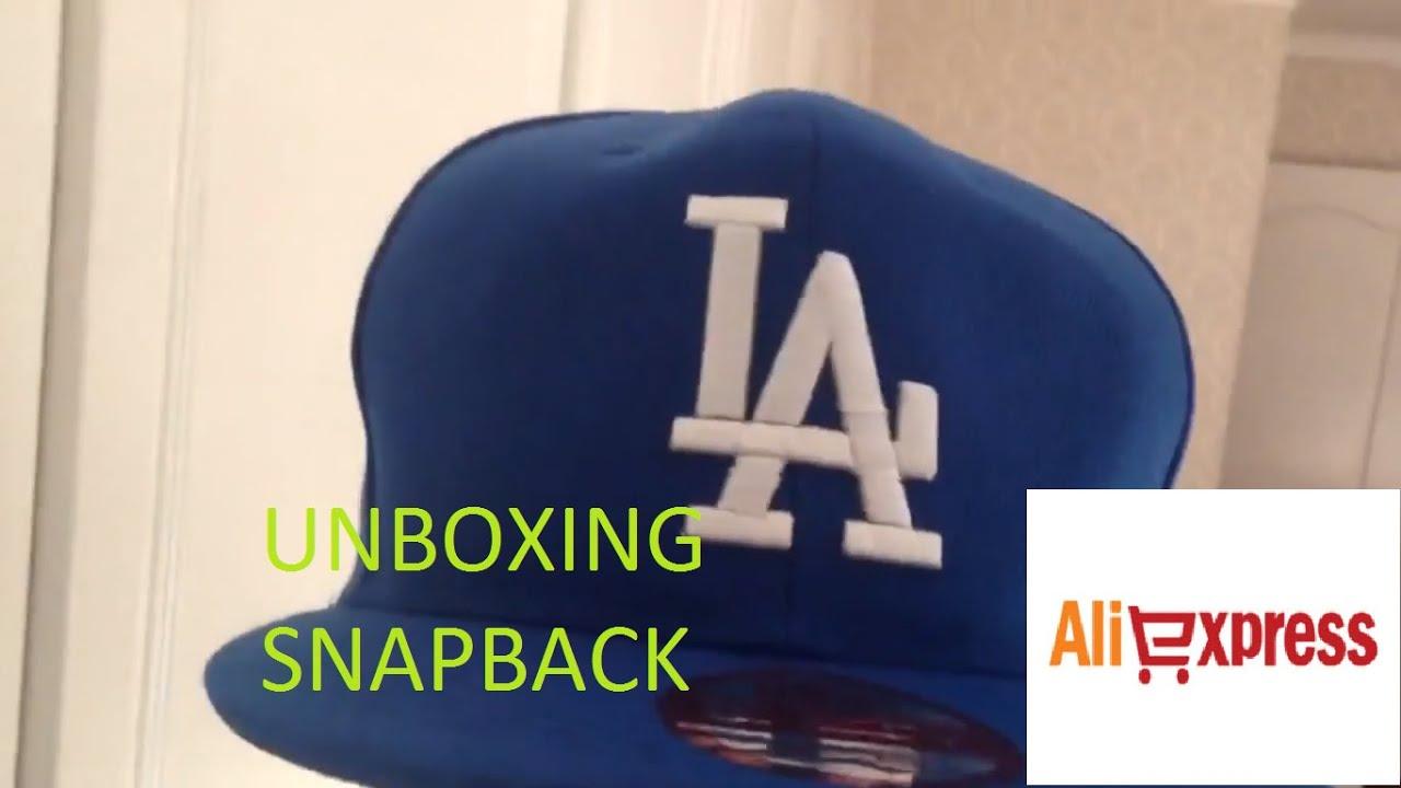 a8308ebd5 Unboxing Snapback LA Dodgers Aliexpress New Era - YouTube