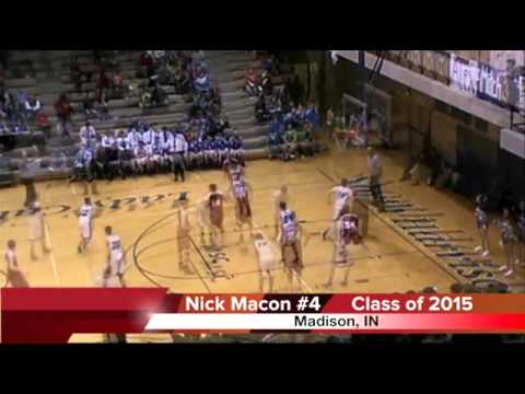 Nick Macon Sophomore basketball highlights Madison Consolidated High School 2015, Indiana