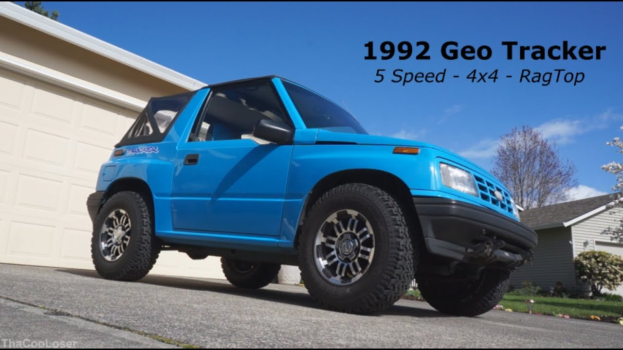 1992 Geo Tracker Walk Around 5 Speed 4x4 Rag Top