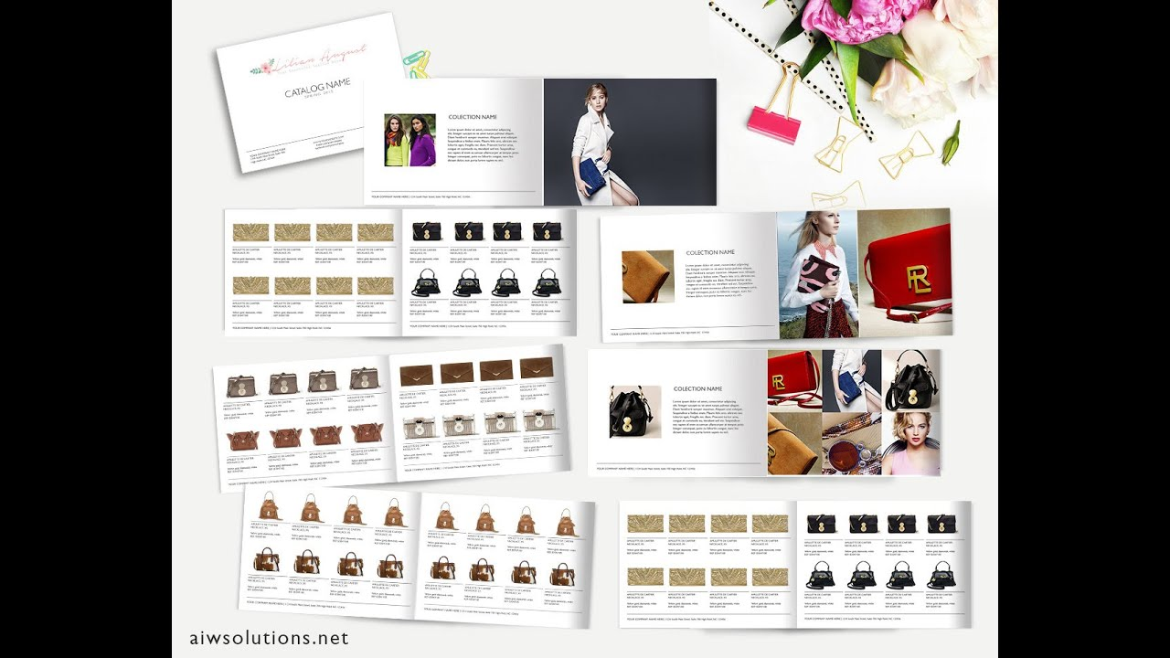 create your own catalog using photoshop - template id 02