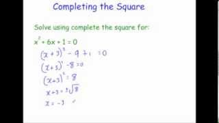Completing the Square - Corbettmaths