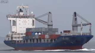 [船] RELIANCE Container ship コンテナ船 Kanmon Strait 関門海峡 2013-JUL