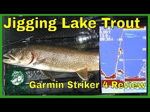 Jigging Lake Trout - Garmin Striker 4 Test (Deep Water) - Ice Fishing