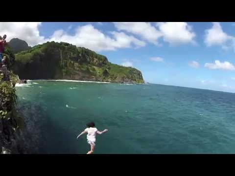 Cliff Jumping Where They Filmed Pirates of the Caribbean 2012 HD GoPro