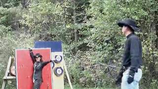 Knife Throwing Impalement distance throws One Sharp Marriage