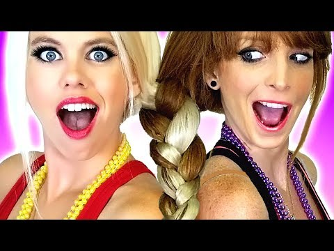 Hair Challenge!!! Sisters Make One Braid! Plus DIY Beauty  & Makeup Hacks and Tips!