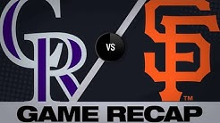 Dahl homers, Rockies shut out Giants | Rockies-Giants Game Highlights 6/24/19
