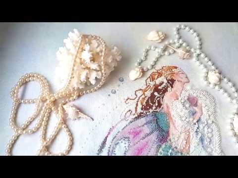 """СП """"Тайна Мирабилии"""". Mermaid of the pearls. Русалка в жемчуге. Готовая работа."""