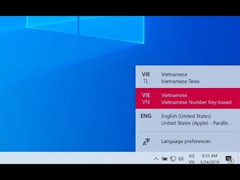 Cách Bật Bộ Gõ Tiếng Việt Mặc định Trên Windows 10 May 2019
