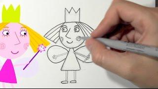 Comment dessiner Princesse Holly - Le Petit Royaume de Ben et Holly