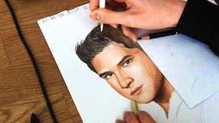Drawing Tyler Posey as Scott McCall from Teen Wolf