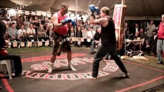 Darryl Burley fights a FOUR man tag-team -Outback Fight Club -  Burnett Heads 2015