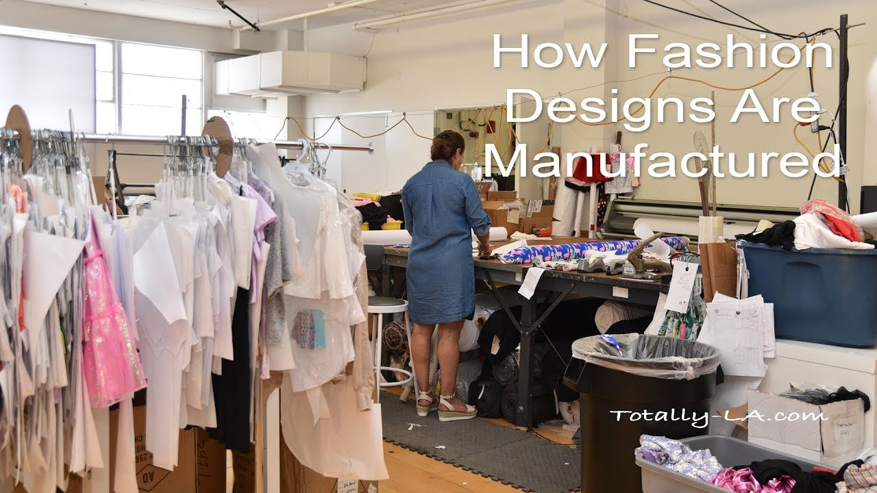 How Fashion Designs Are Manufactured Youtube
