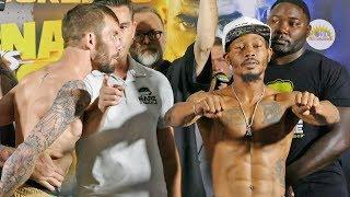 HEATED! Paulie Malignaggi vs. Artem Lobov FULL UNDERCARD WEIGH IN |  Bare Knuckle Boxing
