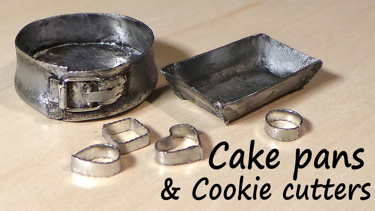 miniature kitchen utensils bronze faucet cookie cutters baking tin