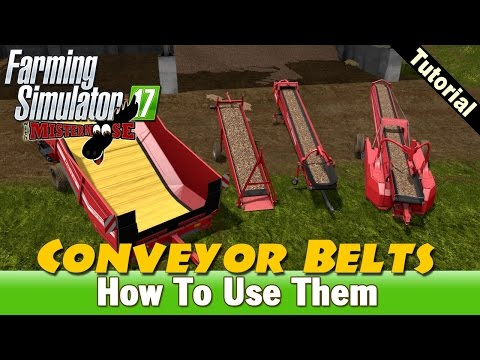 Farming Simulator 17 - How To Use Conveyors
