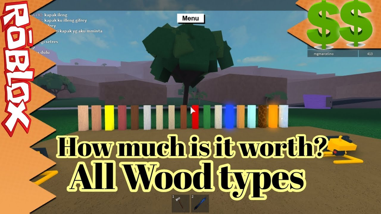 Roblox Lumber Tycoon 2 | All Wood Prices | Most expesive one is? | RobinKing